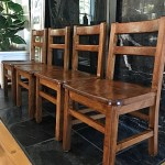 Kids' 50-Year Old Stained Chairs