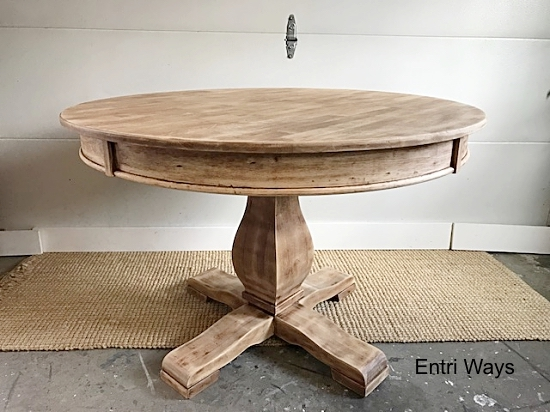 Round Natural Pedestal Table