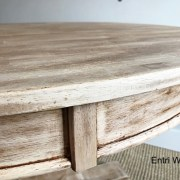 High/Low:  Recreating a Naturally-Aged Wood Pedestal Table
