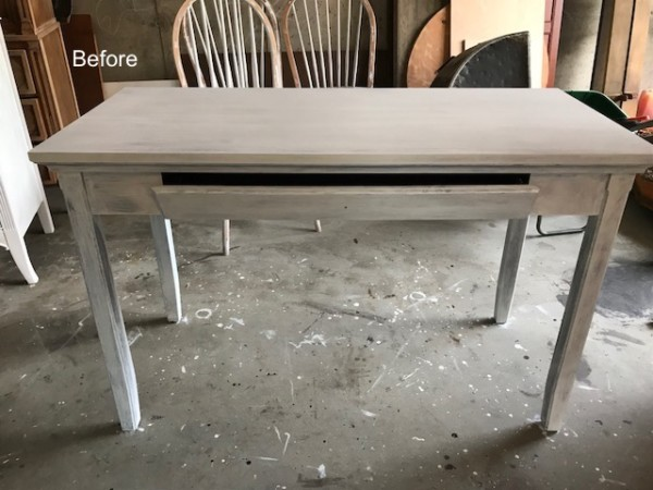 Blue Desk, Blue Abstract Desk by Entri Ways