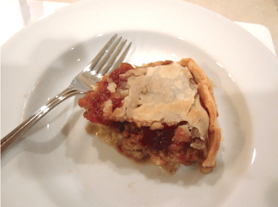 Chicken Pot Pie with Stuffing & Cranberry Sauce