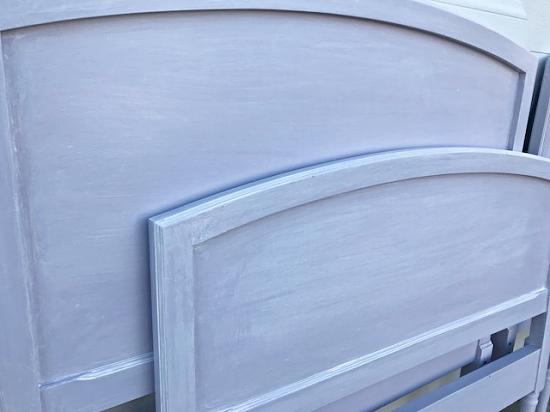 Lavender Girl's Bedroom, lavender twin headboard