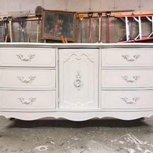 long white french dresser, china white