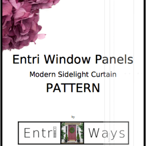 Entri Window Panels Pattern cover, Sidelight curtain pattern