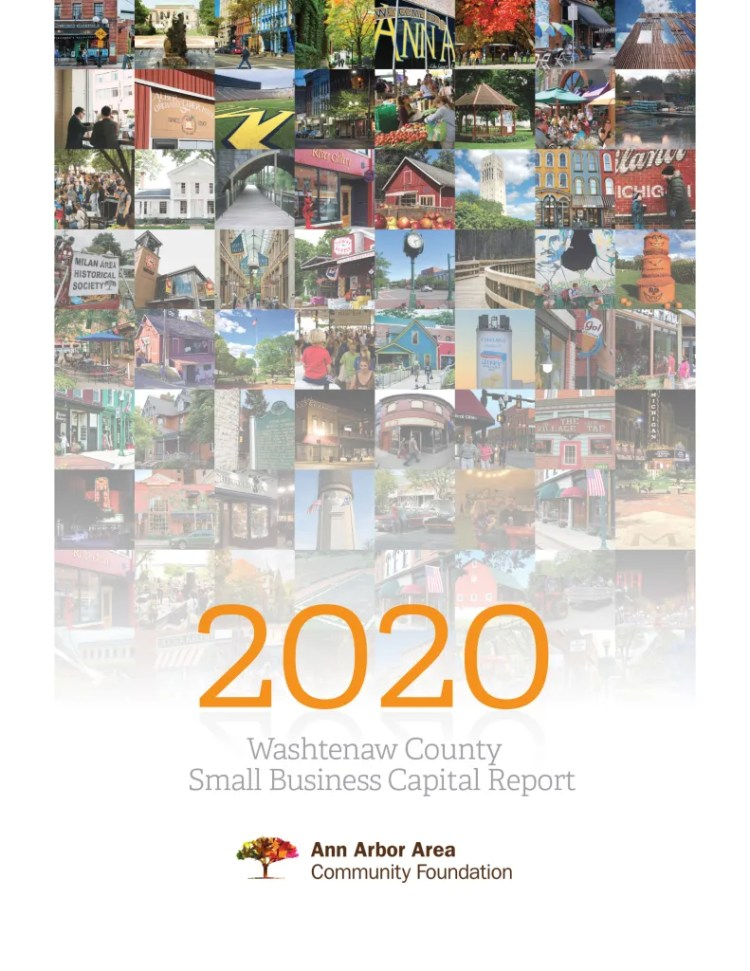 cover graphic - 2020 Washtenaw County Small Business Capital Report - final version from EntryPoint