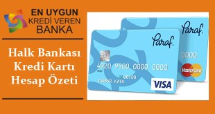 Halk Bankasi Kredi Karti Hesap ozeti