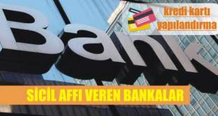sicil affi veren bankalar