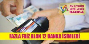 fazla faiz alan bankalar