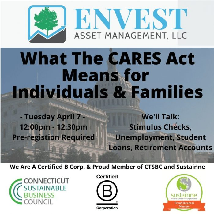 Webinar: Deciphering the CARES Act for Individuals & Families: 04/07/2020 Noon – 12:30pm