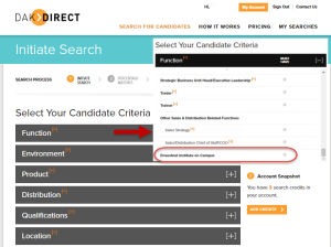 Dakdirect_Initiate Search & select function