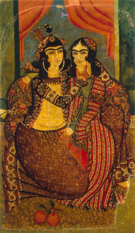 Painting of two androgynous women