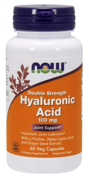 Now - Hyaluronic Acid Double Strength 100mg 60caps