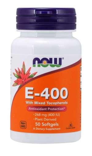 Now Foods - Vitamin E-400 50Softgels