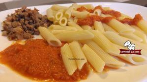 Salsa casera de tomate y queso para pasta