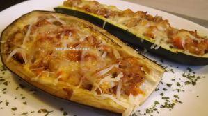 Berenjenas rellenas y calabacín -delicioso-