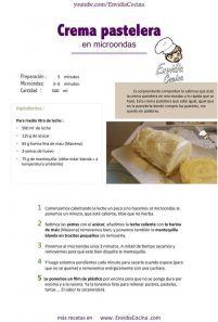 Crema pastelera en microondas ENVI Hoja1