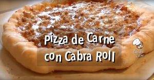 Pizza con cabra roll estilo Domino`s