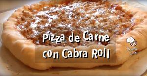 Pizza con cabra roll estilo Domino`s