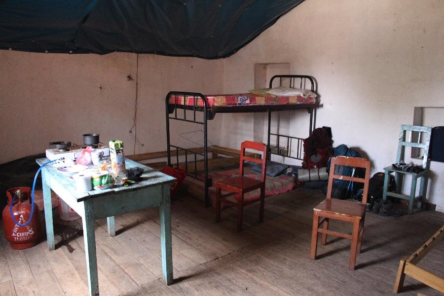 Notre chambre à Quinua, le local est en dessous!