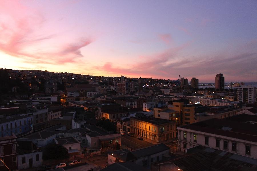 Le coucher du soleil depuis leur balcon !