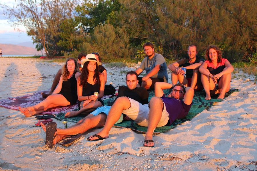 Week-end sur l'îlot Ténia avec toute la troupe!