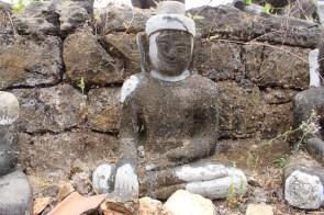 La restauration ratée sur ce Bouddha...