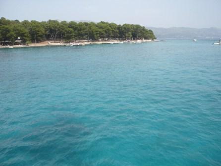 L'eau est pourtant claire en Croatie!