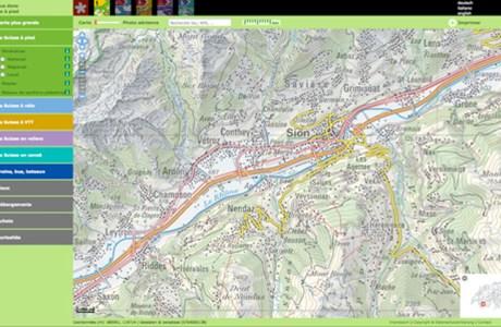 Carte randonnée Suisse