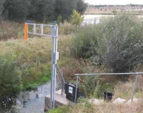 LDI ROW am Kanal aufgestellt