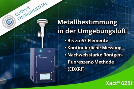 Dezember 2019 – Kontinuierliche Metallbestimmung in der Umgebungsluft mit dem Xact® 625i