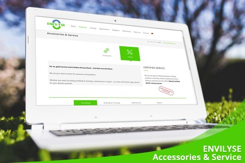 June 2020 – New website section: Accessories & Service