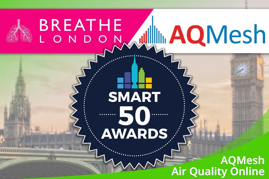 "July 2020 – ""Breathe London"" wins SMART 50 Award"
