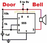 Door Bell With 555 Timer IC