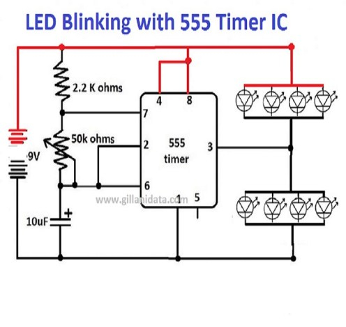 flop flop using timer ic 555
