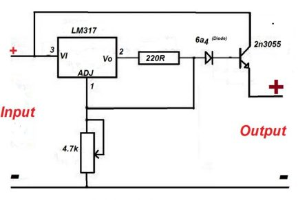 voltage regulator using lm317