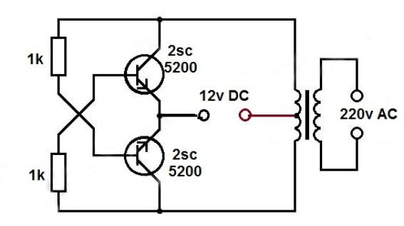 1.5v dc to 220v ac converter
