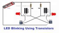 LED blinking using Transistors