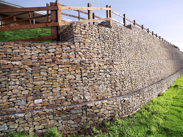Beacon Barracks Mass Gravity Gabion Retaining Wall