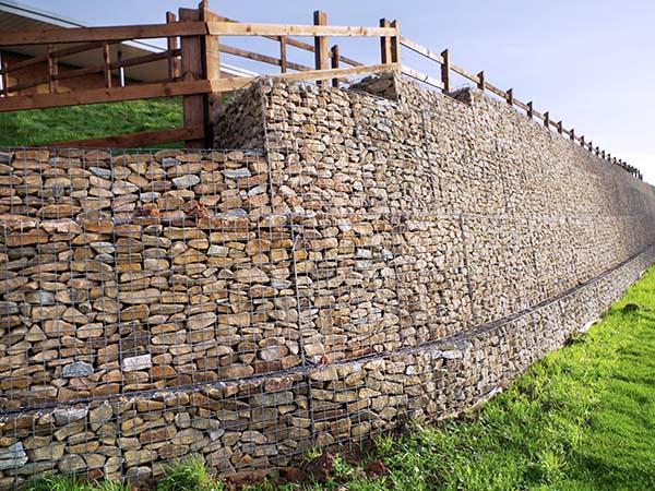 Beacon Barracks Mass Gravity Gabion Retaining Wall