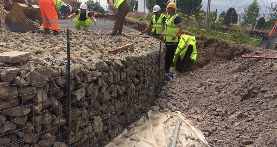 Beacon Barracks Welded Mass Gravity Gabion Retaining Wall Portfolio