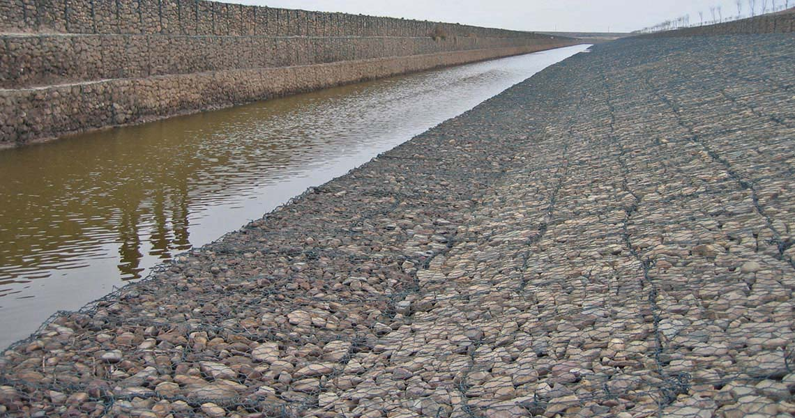 Gabion Mattresses Erosion Protection