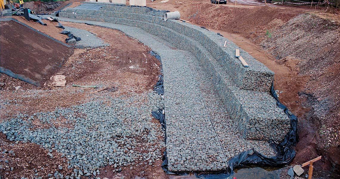 Scour Protection Apron Gabion Mattresses Erosion Protection