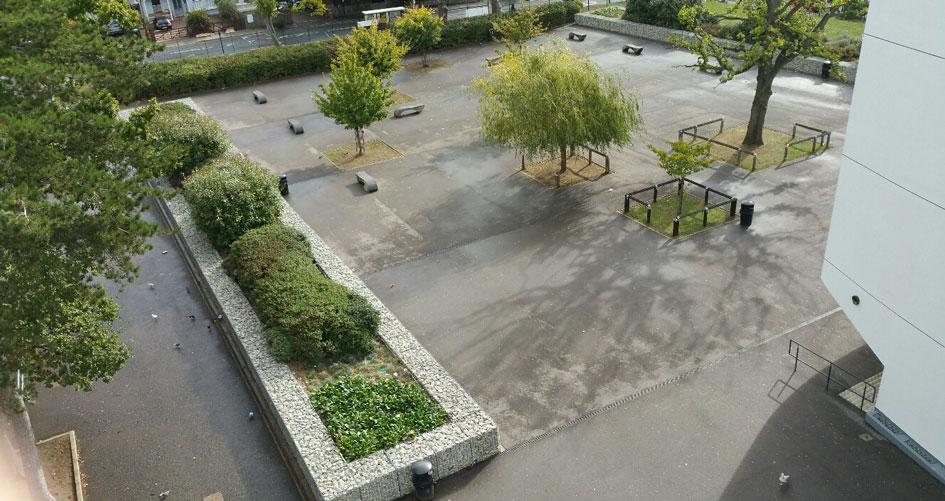 Forrest Hill School Welded Gabion Landscaping Planters Portfolio