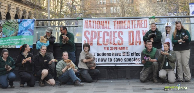 National Threatened Species Day - Sydney Martin Place