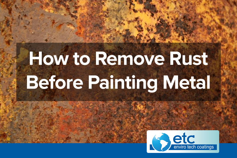 How to Remove Rust Before Painting Metal