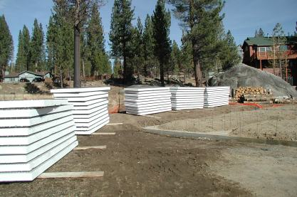 Panels delivered to site