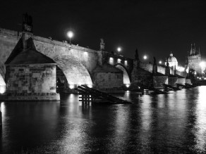 River Vltava under Charles Bridge, Prague, Czech