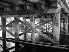 The operational Hotham River bridge near Dwarda, Western Australia