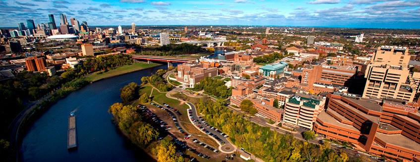 UMN-Washington Ave. Bridge, Mississippi River, Downtown Minneapolis