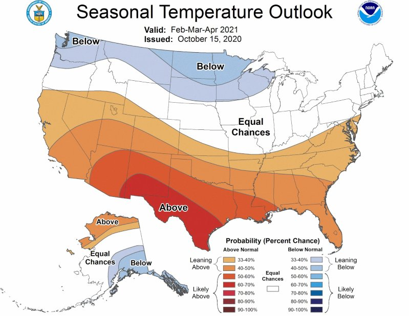 sample seasonal temperature outlook map featuring color adjustment and improved legend